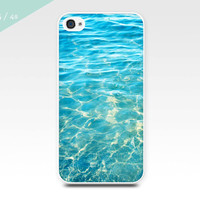 nautical iphone case abstract water iphone 4 4s 5 5s case photography case ocean ripples iphone 5 5s waves beach cell phone aqua green teal