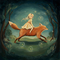 Dream Animals Fox Girl Print