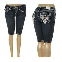 L.A. IDOL SHINING CROSS BERMUDA SHORTS