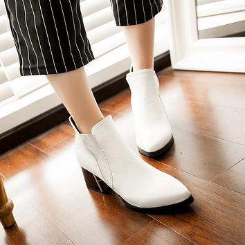 Pointed Toe Ankle Boots Women Shoes Fall|Winter 11191501