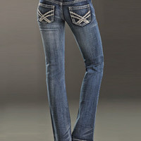 Rock and Roll Cowgirl® Ladies' Heavy Stitch Jeans