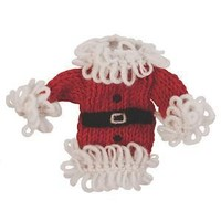 Santa Coat Hand Knitted Ornament