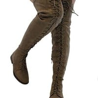 Missy Brown Over The Knee Boots
