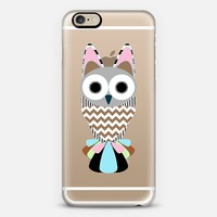 Cute Pattern Obsessed Owl Transparent iPhone 6 case by Organic Saturation | Casetify