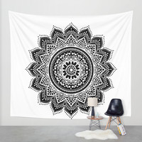 mandala Wall Tapestry by Haroulita