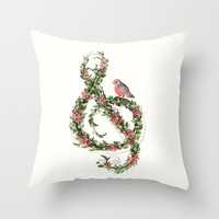 Robin's Song Throw Pillow by Laura Graves