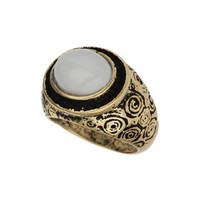 OVAL STONE COCKTAIL RING