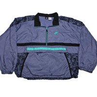 Vintage 90s Nike Purple/Black/Teal Windbreaker Jacket Mens Size XL - Default Title