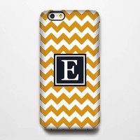 Orange Chevron Monogram iPhone 6 Plus 6 5S 5C 5 4 Protective Case #961