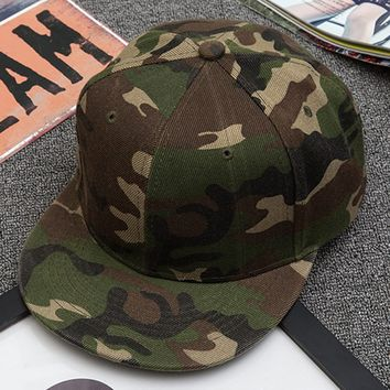 Trendy Winter Jacket Panel Cap Camo Snapback Hats  For Men Women Cotton Camo Baseball Cap Outdoor Army Camouflage Hat AT_92_12