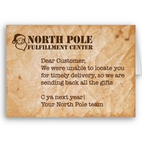 Humorous Holiday Card from Zazzle.com