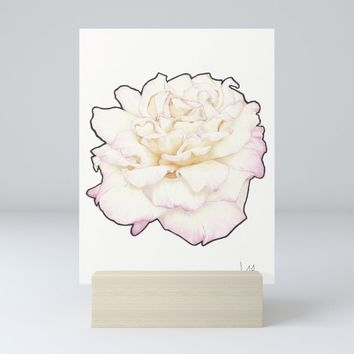 Pale Rose Mini Art Print by drawingsbylam