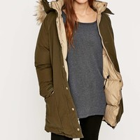Denim & Supply Ralph Lauren Down Filled Green Parka - Urban Outfitters