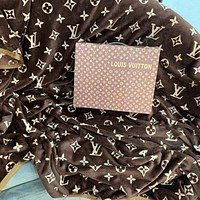 Louis Vuitton print vintage blanket Coral fleece extra thick warm cover blanket nap blanket adult single bed blanket gift box