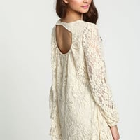 LACE CUT OUT FLARE TOP