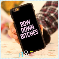Beyonce BOW DOWN BITCHES Flawless Protective Hard Mobile Phone Cases For iPhone 6 Case 4.7 For iphone 6 plus 5.5 Cover Free Gift