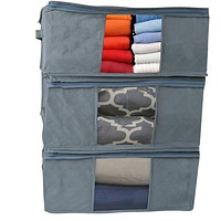 Evelots Foldable Home-Closet-Room Storage Organizer Bags-Clearview Window