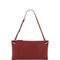 Happy Hour 10 Leather Pouch Shoulder Bag, Brick Red
