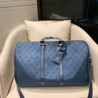 Louis Vuitton LV Monogram Denim Travel Bags Tote Handbag