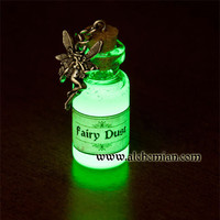 Glow in the dark  necklace Fairy Dust by AlchemianShop on Etsy