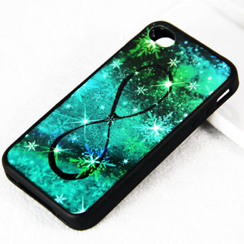 INFINITY Galaxy iPhone 4S/4 Case,iPhone 5 Case,iPod Touch 5 and 4 Case,Rubber Case and Plastic Case