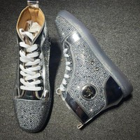 DCCK2 Cl Christian Louboutin Rhinestone Style #1929 Sneakers Fashion Shoes