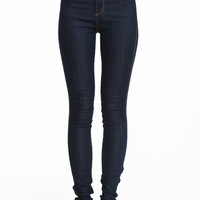 HIGH WAISTED DARK JEANS