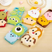 fashion cute 3d cartoon case lovely sulley stitch Chip&Dale Winnie Pooh soft silicone cover for iPhone 5 5s 6 4.7 5.5 inch plus