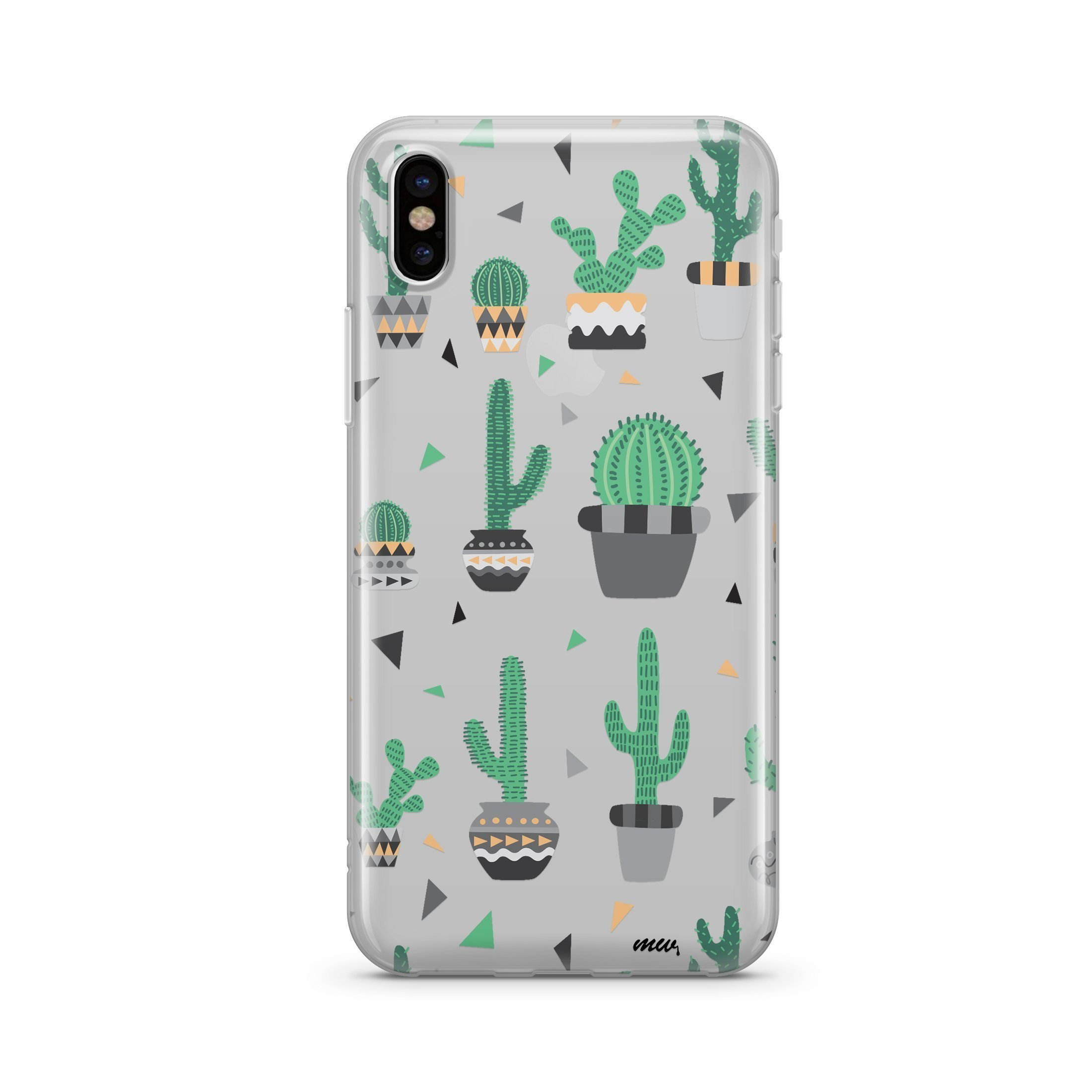 Image of Cactus Party - Clear TPU - iPhone Case