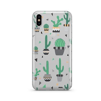 Cactus Party - Clear TPU - iPhone Case