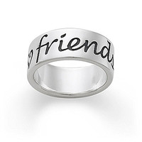 James Avery Friends Forever Band Ring - Silver 8