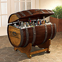 Reclaimed Wine Barrel Ice Chest