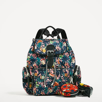 PRINTED TECHNICAL FABRIC BACKPACK - View all-BAGS-WOMAN | ZARA United States