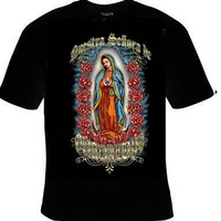 our  lady of GUADALUPE T-shirt unisex  tee shirt mary