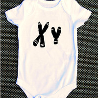 XY chromosome MALE boy baby Onesuit science nerdy geeky funny