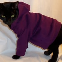 RockinDogs Ribbed Knit Hoodie for Cats several colors available