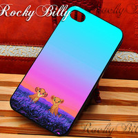 The Lion King Kids for iPhone 4/4s/5/5s/5c - iPod 2/4/5 - Samsung Galaxy s2/s3/s4/s5 - Black/White