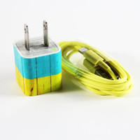 Art Wood Design Cell USB Charger Adapter Cable for iphone 4s/4/5/5s/5c Samsung HTC Android