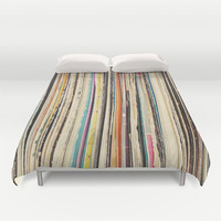 Record Collection Duvet Cover by Cassia Beck
