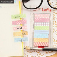 Colorful Stickers Memo Pads Kawaii Stickers Scrapbooking Stickers Planner Sticky Notes Stationery Items Sticker Diary Notepad