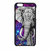 Aztec Elephant Space Galaxy Design Black iPhone 6 Case