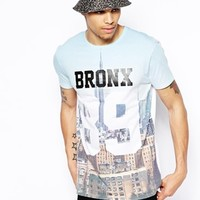 ASOS Longline T-Shirt With Bronx 89 Print And Skater Fit
