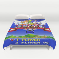 Sonic and Tails Duvet Cover by likelikes   Society6
