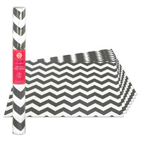 8-Pack Non-Adhesive Drawer Liner Sheets in Grey Chevron Print