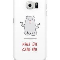 Inhale Love Exhale Hate | Quirky Samsung Galaxy S6 Cover