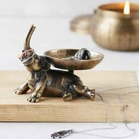 Plum & Bow Elephant Ring Holder- Gold One
