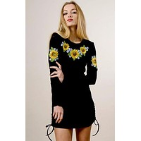 "Women's embroidered tunic ""Sunflowers"""