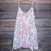 Melrose Place Floral Chiffon Swing Dress