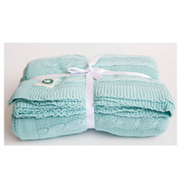 Cable Knit Throw - Mint