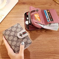 Women Short Wallets Ladies Fashion Small Purse Honey Bee Cute Mini Wallet Pink PU Female Card Holder Hasp Zipper Coin Purse